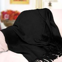 Fabulous Pure Cashmere Throw (Black)