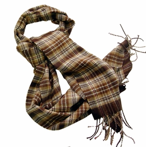 Cashmere Feel Men Scarf (Brown)