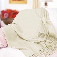 Fabulous Pure Cashmere Throw (Off White)