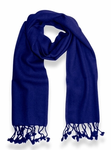 Classic Solid 100% Cashmere Scarf (Blue)