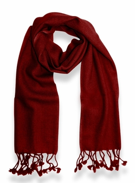 Classic Solid 100% Cashmere Scarf (Maroon)