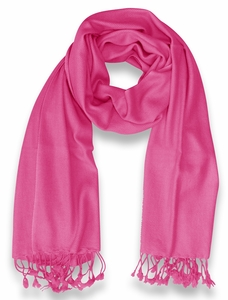 Ultra-Soft 100% Cashmere Wrap (Hot Pink)