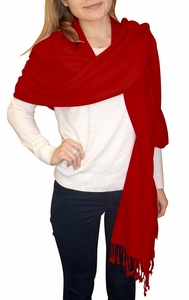 Ultra-Soft 100% Cashmere Wrap  (Maroon)