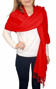Ultra-Soft 100%  Cashmere Wrap  (Red)