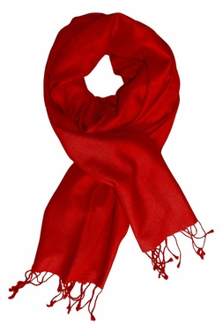 Soft Elegant Cashmere & Silk Pashmina Shawl (Red)