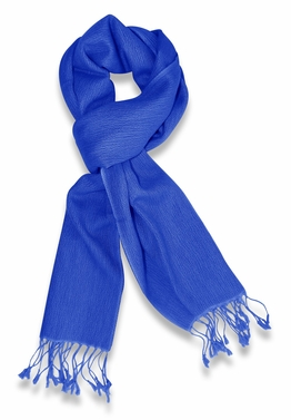 Gorgeous Warm Cashmere & Silk  Scarf (Blue)