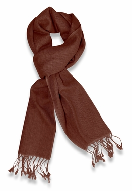 Gorgeous Warm Cashmere & Silk  Scarf (Chocolate Brown)