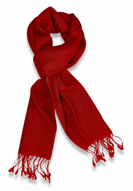 Gorgeous Warm Cashmere & Silk Scarf (Red)