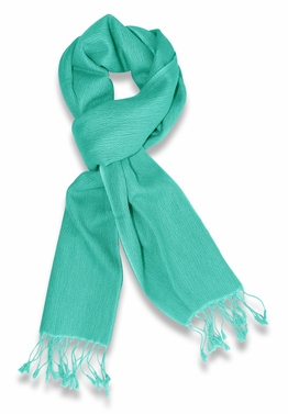Gorgeous Warm Cashmere & Silk  Scarf (Turquoise)