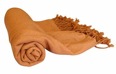 Fabulous 100% Cashmere Soft Elegant and Warm Throw Blanket (Tan)