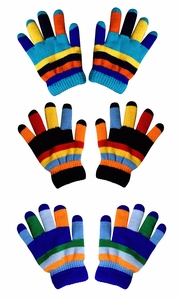 Children's Toddler Warm Winter Gloves and Mittens Value packs (Rainbow 3 Little Kids(4 to 8 Years)