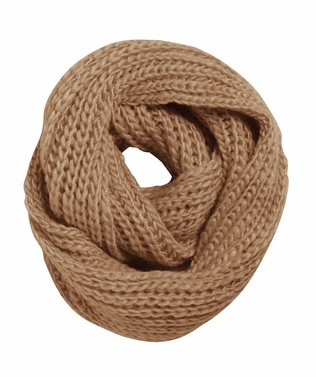 Chunky Warm Hand Knitted Infinity Large Loop Scarf (Taupe)