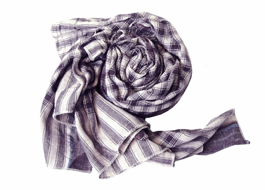 Classic Checkered Purple Plaid Scarf
