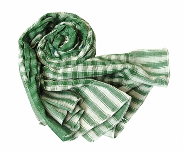Classic Green Checkered Plaid Scarf