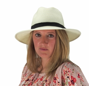 Classic Panama Hats Banded Fedora Hats (More Colors)