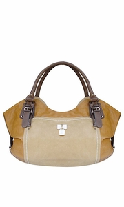 Classic TAN Top Handle Oversize Tote Handbag Purse Beige