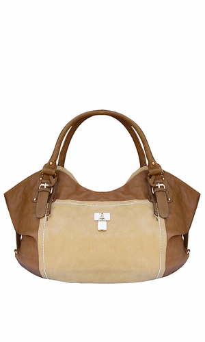 Classic TAN Top Handle Oversize Tote Handbag Purse Sand