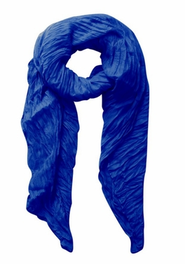 Colorful Crinkled Beach Vacation Sarong/Scarf (Royal Blue)