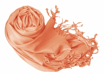 Luxurious Eco-friendly Solid Pashmina Shawl (Coral)