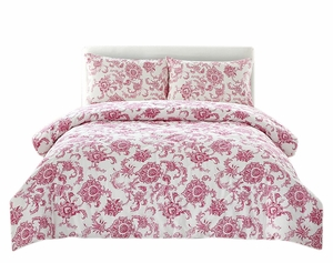 Couture Home Collection Floral Dream 3 pcs Comforter Set Pink