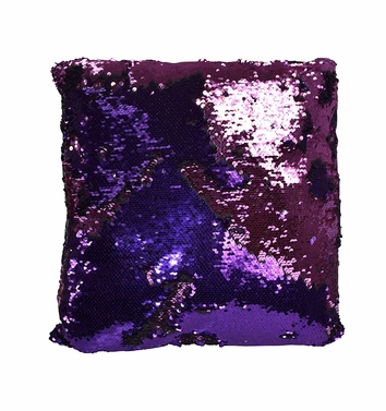 Couture Home Collection Haute D�cor Reversible Sequin Decorative Color Changing Mermaid Throw Pillow with Insert (Purple Pink)