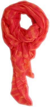 Electrifying Stylish Zebra Animal Print Fashion Scarf/wrap/shawl (Coral/Red)