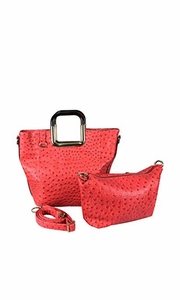 Elegance Personified 2 in 1 Tote and Satchel Exquisite Handbags Coral