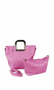 Elegance Personified 2 in 1 Tote and Satchel Exquisite Handbags Fuchsia