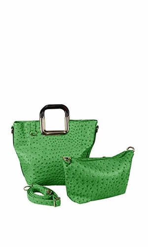 Elegance Personified 2 in 1 Tote and Satchel Exquisite Handbags Green