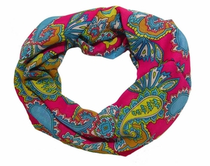Exotic Multicolor Paisley Loop Scarf