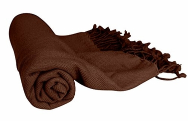 Fabulous 100% Cashmere Soft Elegant and Warm Throw Blanket (Chocolate Brown)