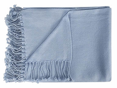 Fabulous 100% Cashmere Soft Elegant and Warm Throw Blanket (Grey)