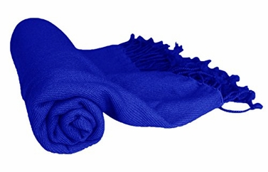 Fabulous 100% Cashmere Soft Elegant and Warm Throw Blanket (Royal Blue)