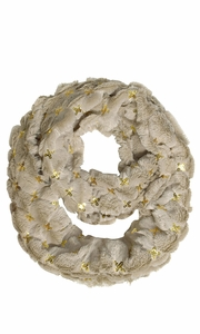 Faux fur Solid Color Plush Cowl Collar Infinity Loop Scarf  -  Limit One per Household.