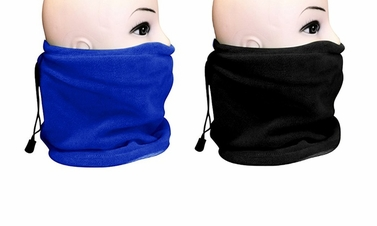 Fleece Lined Versatile Ski Mask 2-Pack Set (Blue/Black)