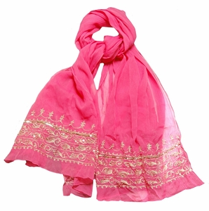 Fuchsia Sequin Fashion Scarf