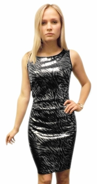 Glamorous Sparkling Cocktail Dress (Zebra)