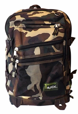 Green Camouflage Back to School Outdoors Hiking Smart Backpack (Green Camouflage)