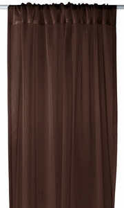 "Home Collection Light and Elegant 1 Piece Solid Color Sheer Window Treatment Curtain Panel with Rod Pocket - 54"" X 84"" (Brown)"