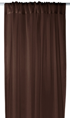 """Home Collection Light and Elegant 1 Piece Solid Color Sheer Window Treatment Curtain Panel with Rod Pocket - 54"""" X 84"""" (Brown)"""