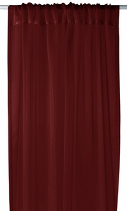 """Home Collection Light and Elegant 1 Piece Solid Color Sheer Window Treatment Curtain Panel with Rod Pocket - 54"""" X 84"""" (Burgundy)"""