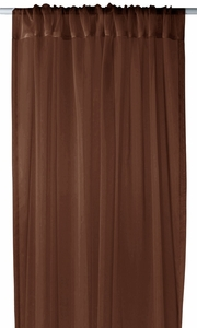 "Home Collection Light and Elegant 1 Piece Solid Color Sheer Window Treatment Curtain Panel with Rod Pocket - 54"" X 84"" (Chocolate Brown)"