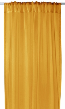 """Home Collection Light and Elegant 1 Piece Solid Color Sheer Window Treatment Curtain Panel with Rod Pocket - 54"""" X 84"""" (Gold)"""