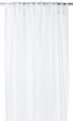 """Home Collection Light and Elegant 1 Piece Solid Color Sheer Window Treatment Curtain Panel with Rod Pocket - 54"""" X 84"""" (White)"""