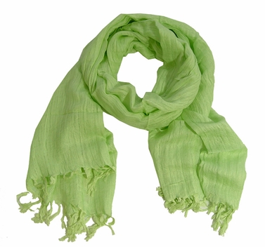 Light Baby Green Pure Cotton Scarf