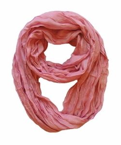 "<font color=""ef755a"">Lightweight Crinkled Infinity Scarf (Dusty Rose)</font>"