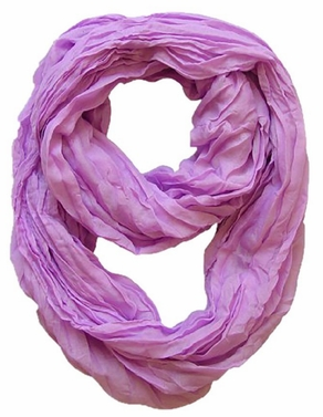 Lightweight Crinkled Infinity Scarf (Lavender)