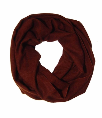 Warm Luxurious 100% Cashmere Infinity Loop (Auburn Brown)