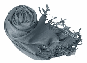 Luxurious Eco-friendly Pashmina Shawl (Charcoal Grey)