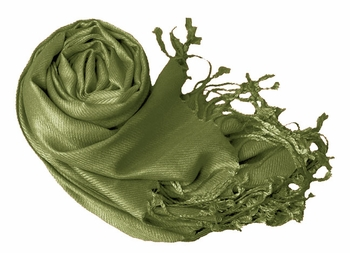 Luxurious Eco-friendly Pashmina Shawl (Sage)